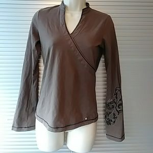 Lole V Neck Brown Top- XS